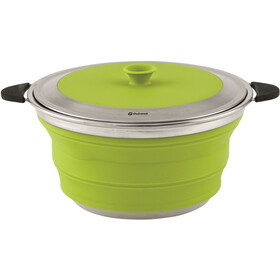 Outwell Collaps Marmite avec couvercle 4500ml, lime green